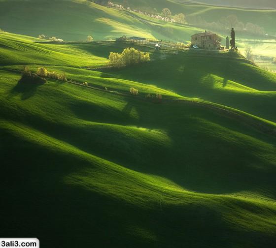 تصاویر زیبا از یک روستا در ایتالیا به نام توسکانی