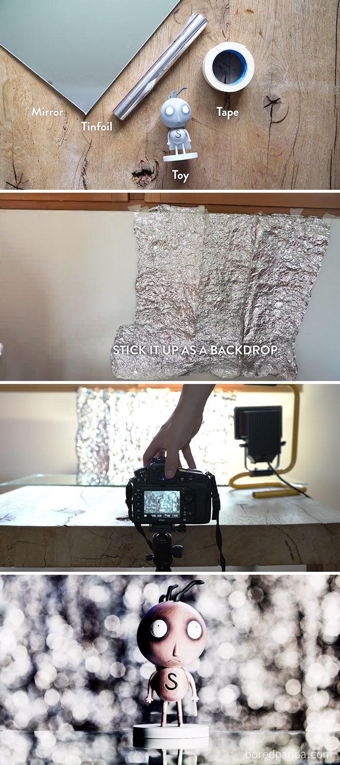استفاده از فویل برای درست کردن دیوار بوکه