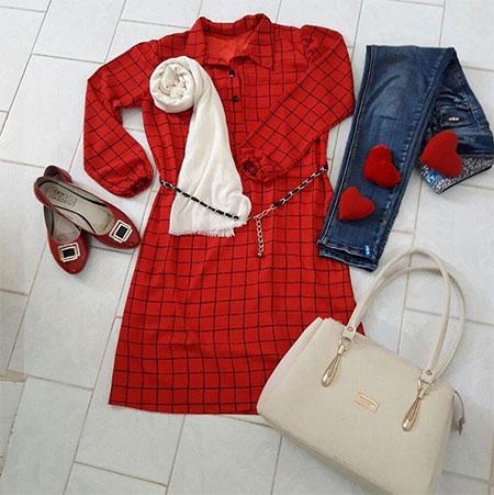 نمونه هایی از جدیدترین مدل مانتوهای رنگ قرمز