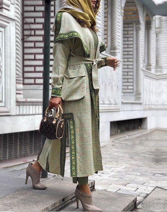 مدل مانتو شیک اسپرت رسمی کوتاه و بلند عید 98